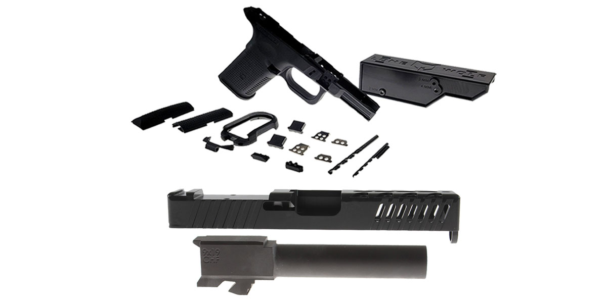 Omega Deals DIY Pistol Kits Featuring: Lone Wolf Frame G19/G23 + ELD Performance Slide G19 + Cold Hammer Forged Non-Threaded 9mm Barrel