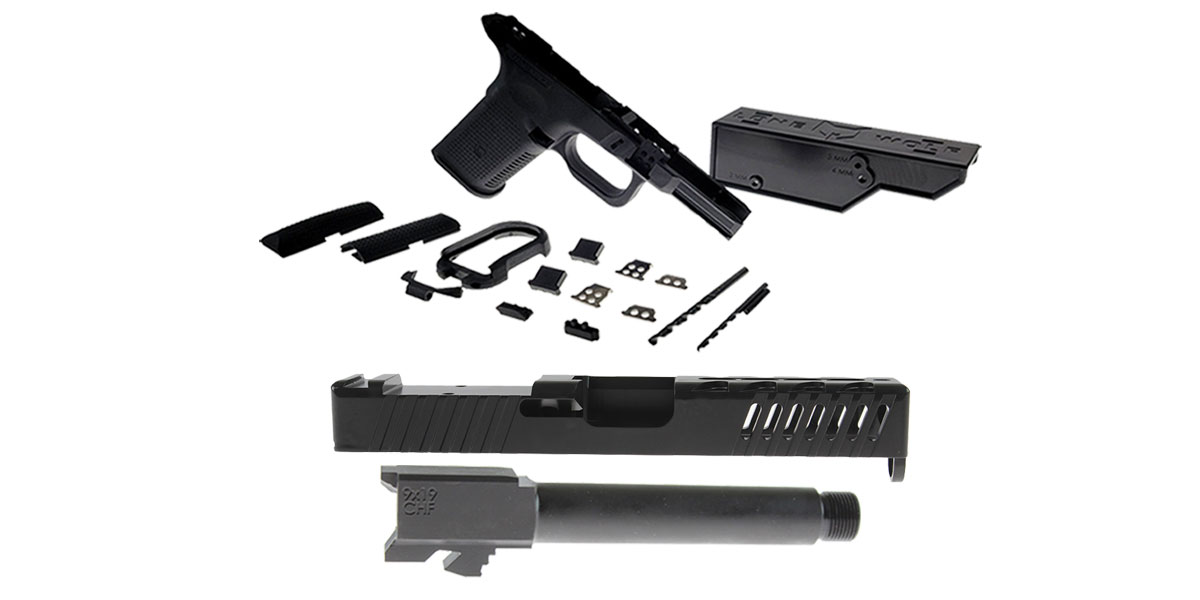 Omega Deals DIY Pistol Kits Featuring: Lone Wolf Frame G19/G23 + ELD Performance Slide G19 + Cold Hammer Forged Threaded 9mm Barrel