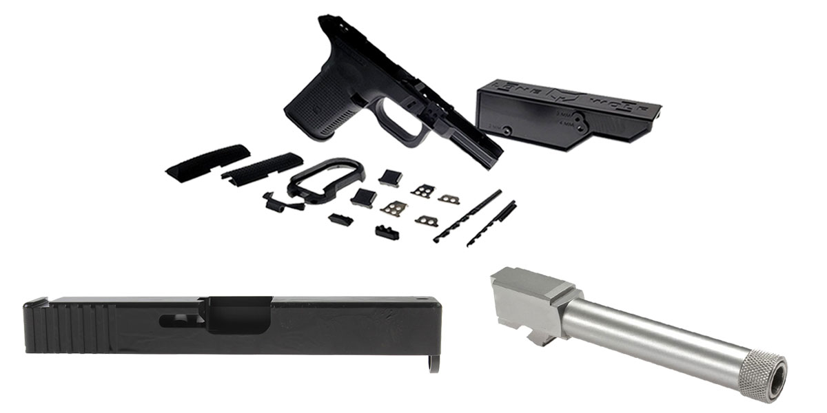 Omega Deals DIY Pistol Kits Featuring: Lone Wolf Frame G19/G23 + ELD Performance Slide G19 + Lone Wolf Threaded 9mm Barrel