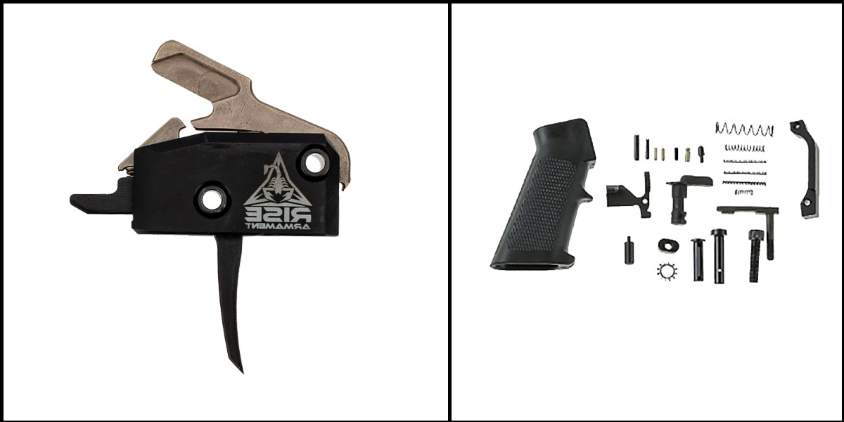 Omega Deals AR-15 Trigger Upgrade Kit Including RISE Armament RA-434 High Performance Trigger w/Anti-Walk Pins +