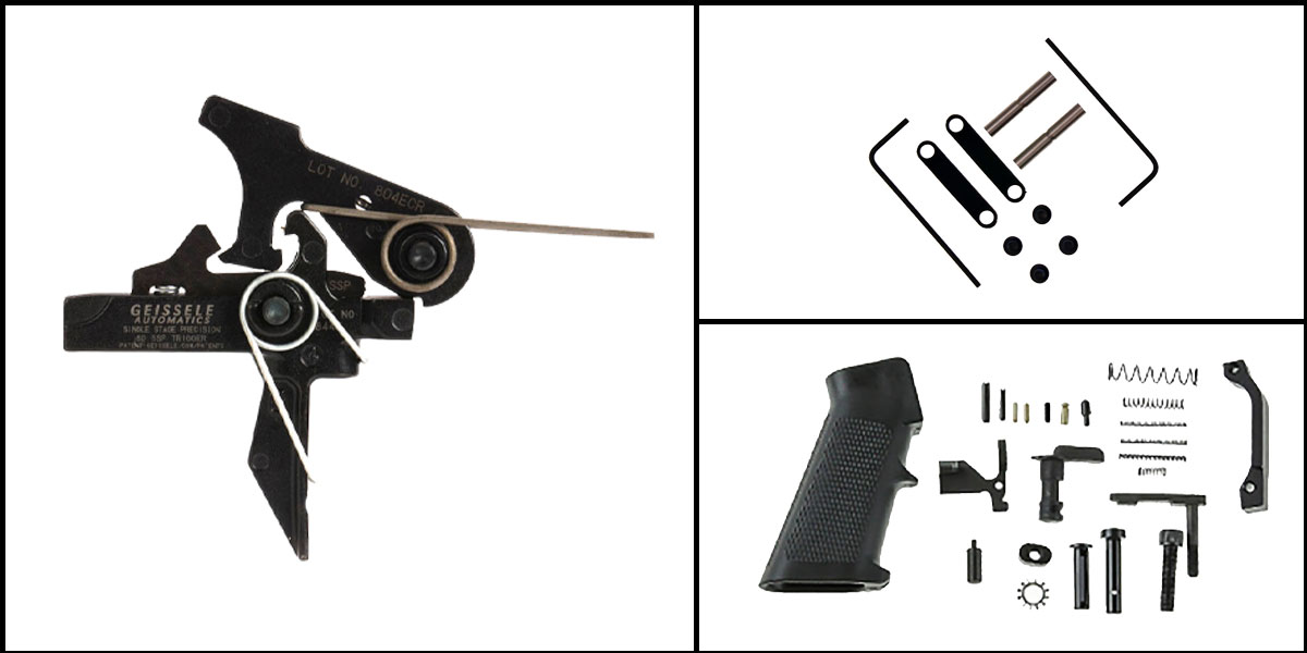 Omega Deals AR-15 Trigger Upgrade Kit Including Geissele Automatics Single-Stage Precision Dynamic Flat Bow Trigger +