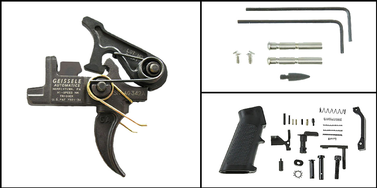 Omega Deals AR-15 Trigger Upgrade Kit Including Geissele Automatics Hi-Speed National Match Trigger Set +