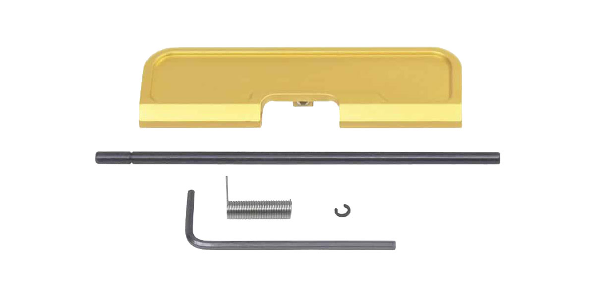 Guntec AR-15 Ejection Port Dust Cover Assembly - Anodized Gold