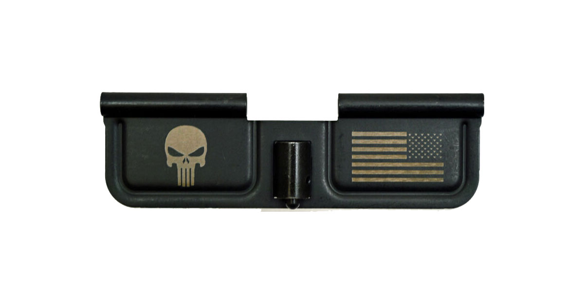 Spike's Tactical Ejection Port Door w/ Punisher and Flag Engraving