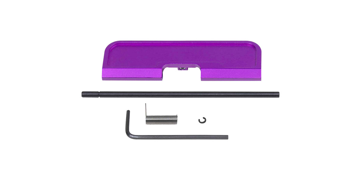 Guntec AR-15 Ejection Port Dust Cover Assembly - Anodized Purple