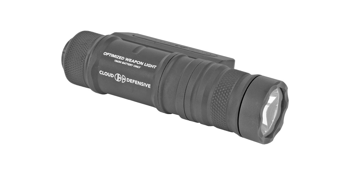 Cloud Defensive - Optimized Weapon Light - Black Aluminum, Ambidextrous & Reversible
