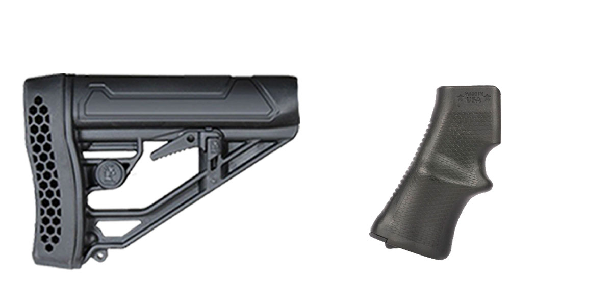 Omega Deals Stock and Pistol Grip Furniture Set: Featuring Adaptive Tactical + A*B Arms