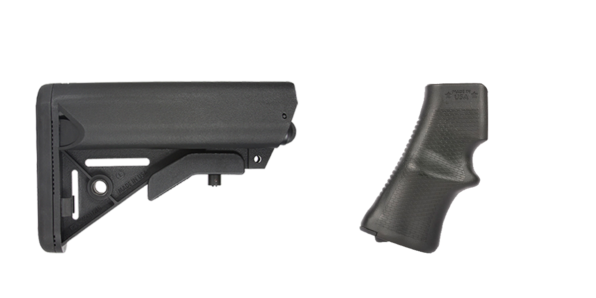 Omega Deals Stock and Pistol Grip Furniture Set: Featuring JE Machine + A*B Arms