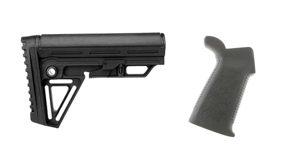 Omega Deals Stock and Pistol Grip Furniture Set: Featuring Trinity Force + Spike's Tactical