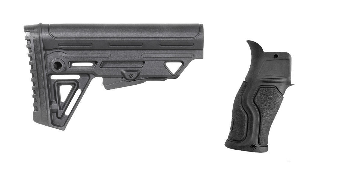 Omega Deals Stock and Pistol Grip Furniture Set: Featuring Trinity Force + FAB Defense