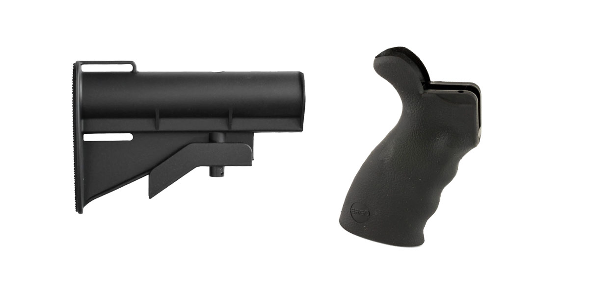 Omega Deals Stock and Pistol Grip Furniture Set: Featuring United Defense + ERGO