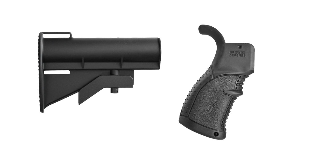 Omega Deals Stock and Pistol Grip Furniture Set: Featuring United Defense + FAB Defense