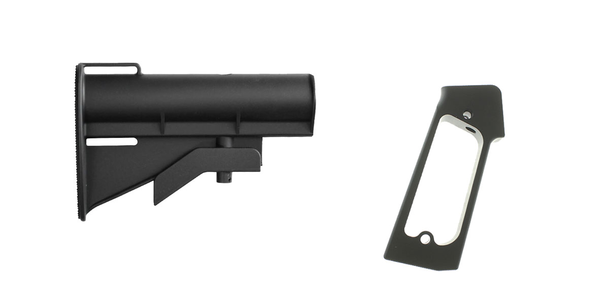 Omega Deals Stock and Pistol Grip Furniture Set: Featuring United Defense + JE Machine