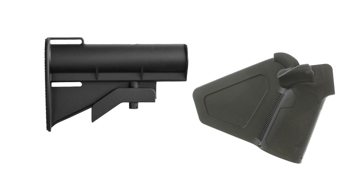 Omega Deals Stock and Pistol Grip Furniture Set: Featuring United Defense + NcStar