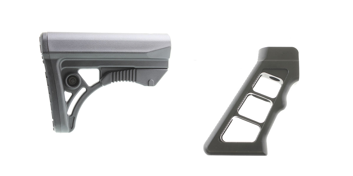 Omega Deals Stock and Pistol Grip Furniture Set: Featuring Leapers + Davidson Defense