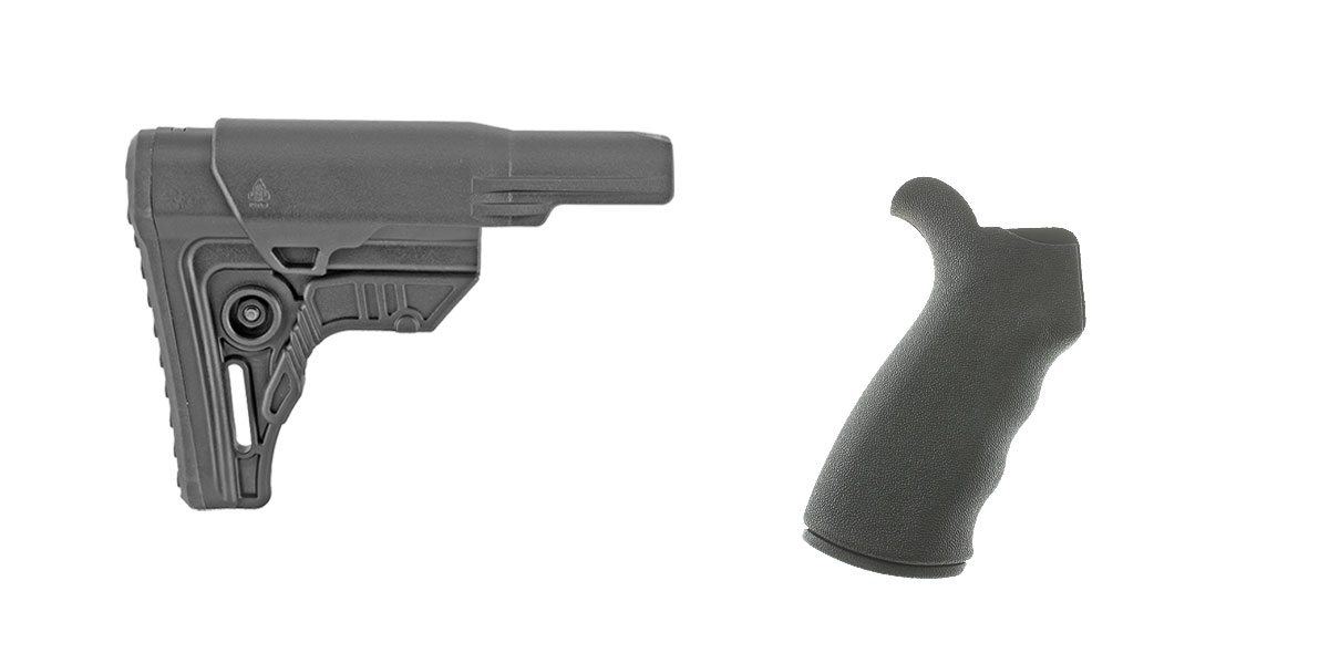 Omega Deals Stock and Pistol Grip Furniture Set: Featuring Leapers + Omega Mfg.