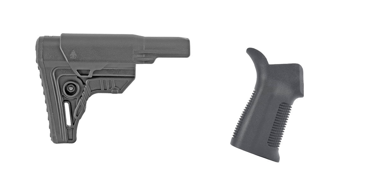 Omega Deals Stock and Pistol Grip Furniture Set: Featuring Leapers + Trinity Force