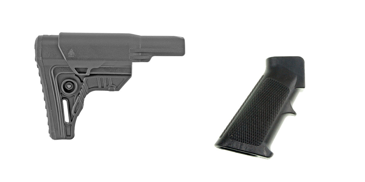 Omega Deals Stock and Pistol Grip Furniture Set: Featuring Leapers + MMC Armory