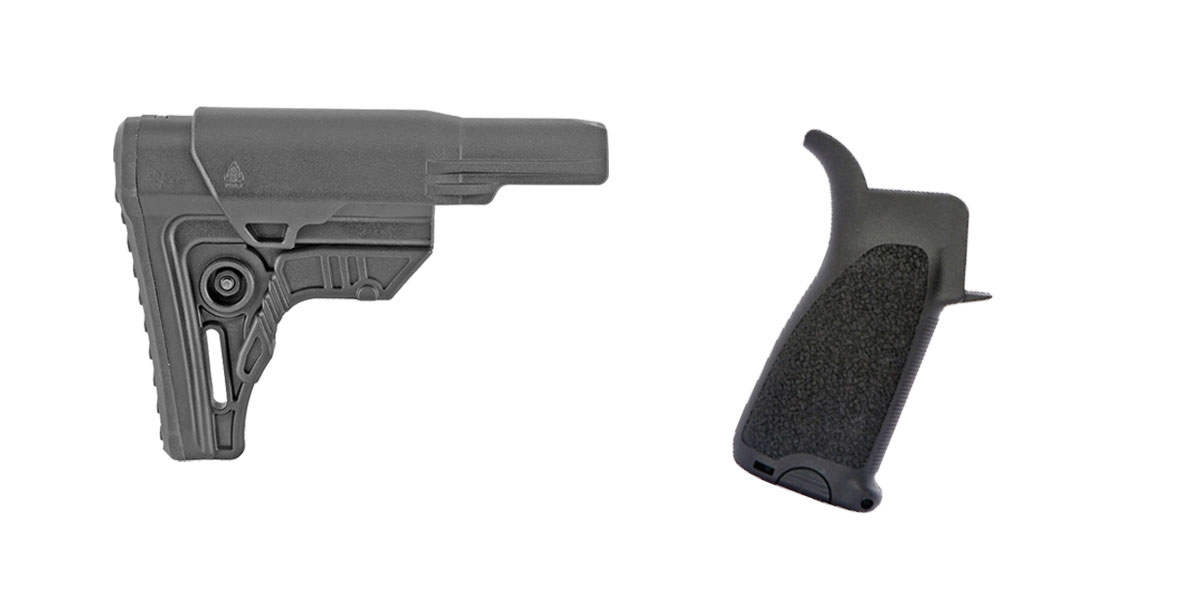 Omega Deals Stock and Pistol Grip Furniture Set: Featuring Leapers + BCM