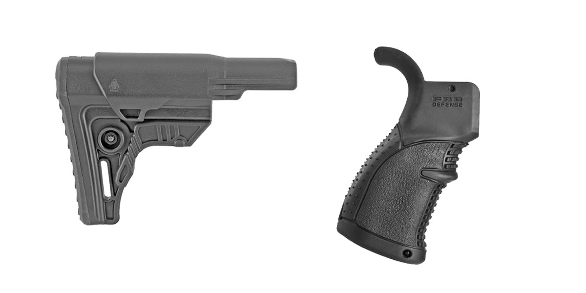 Omega Deals Stock and Pistol Grip Furniture Set: Featuring Leapers + FAB Defense