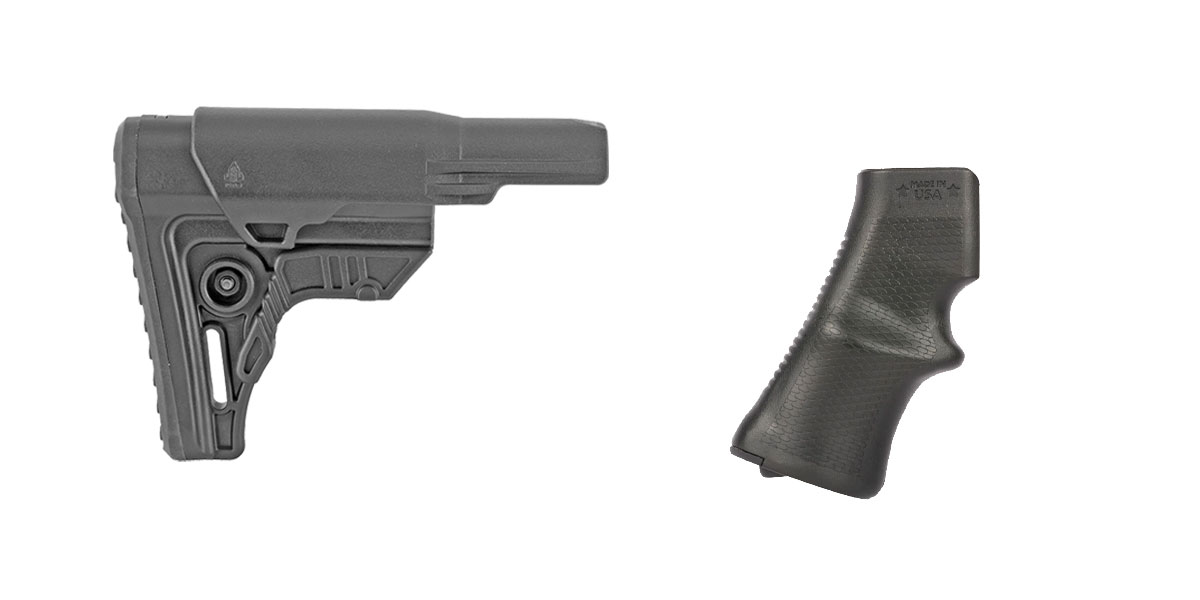 Omega Deals Stock and Pistol Grip Furniture Set: Featuring Leapers + A*B Arms