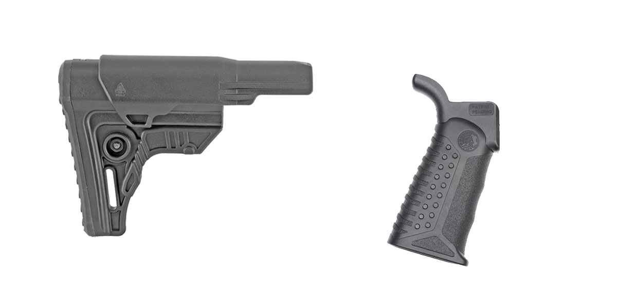 Omega Deals Stock and Pistol Grip Furniture Set: Featuring Leapers + Battle Arms Development