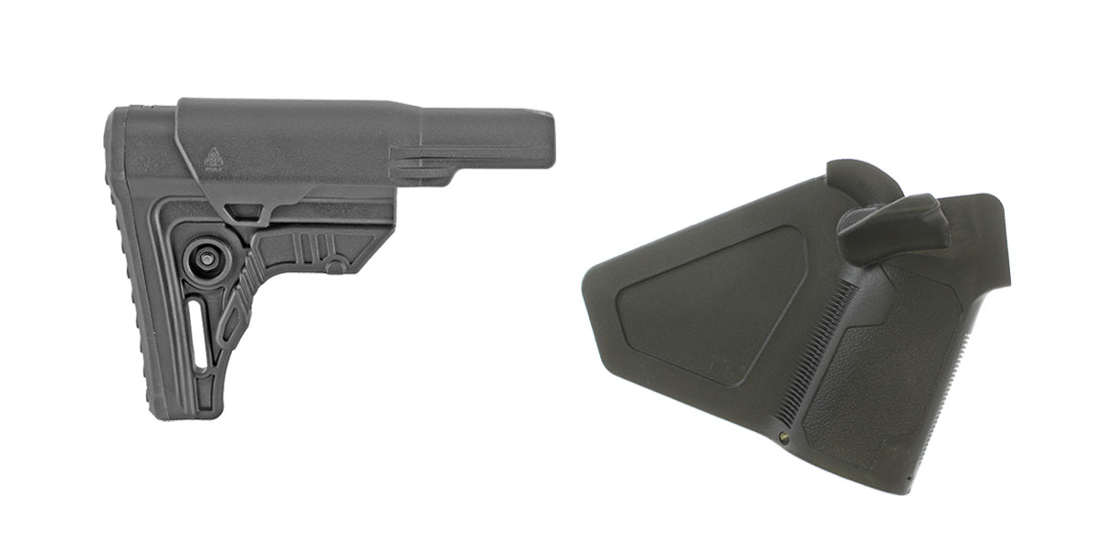 Omega Deals Stock and Pistol Grip Furniture Set: Featuring Leapers + NcStar