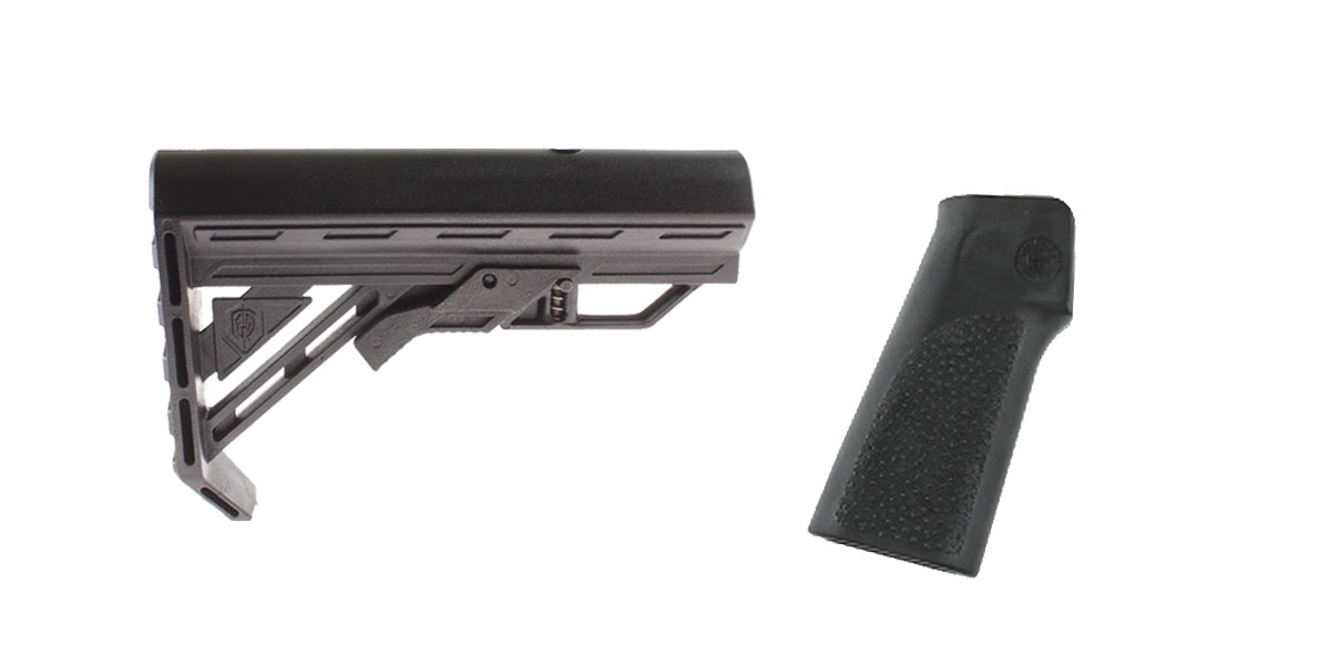 Omega Deals Stock and Pistol Grip Furniture Set: Featuring Davidson Defense + Hogue