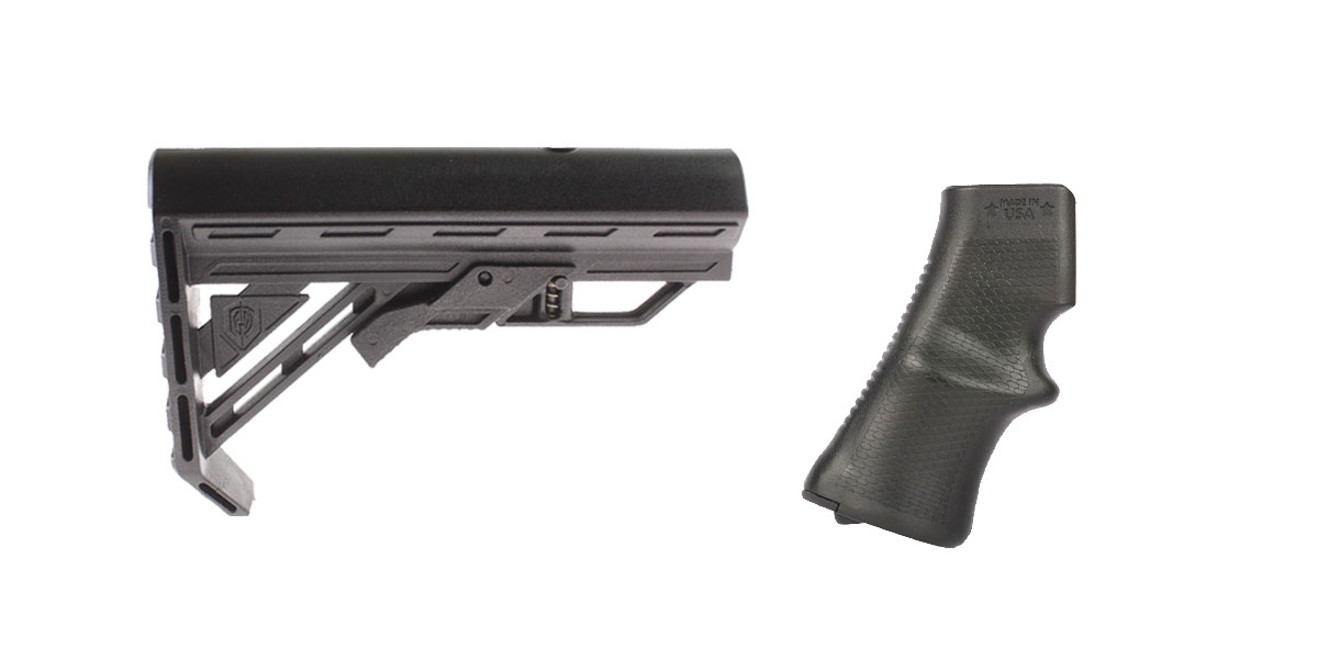 Omega Deals Stock and Pistol Grip Furniture Set: Featuring Davidson Defense + A*B Arms