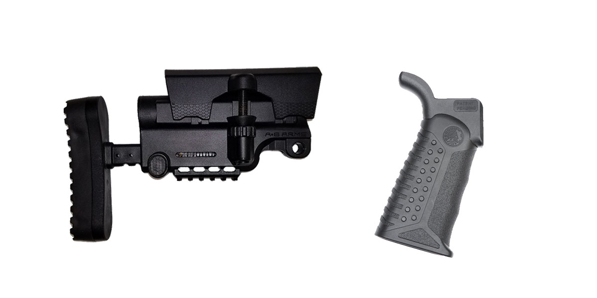 Omega Deals Stock and Pistol Grip Furniture Set: Featuring A*B Arms + Battle Arms Development