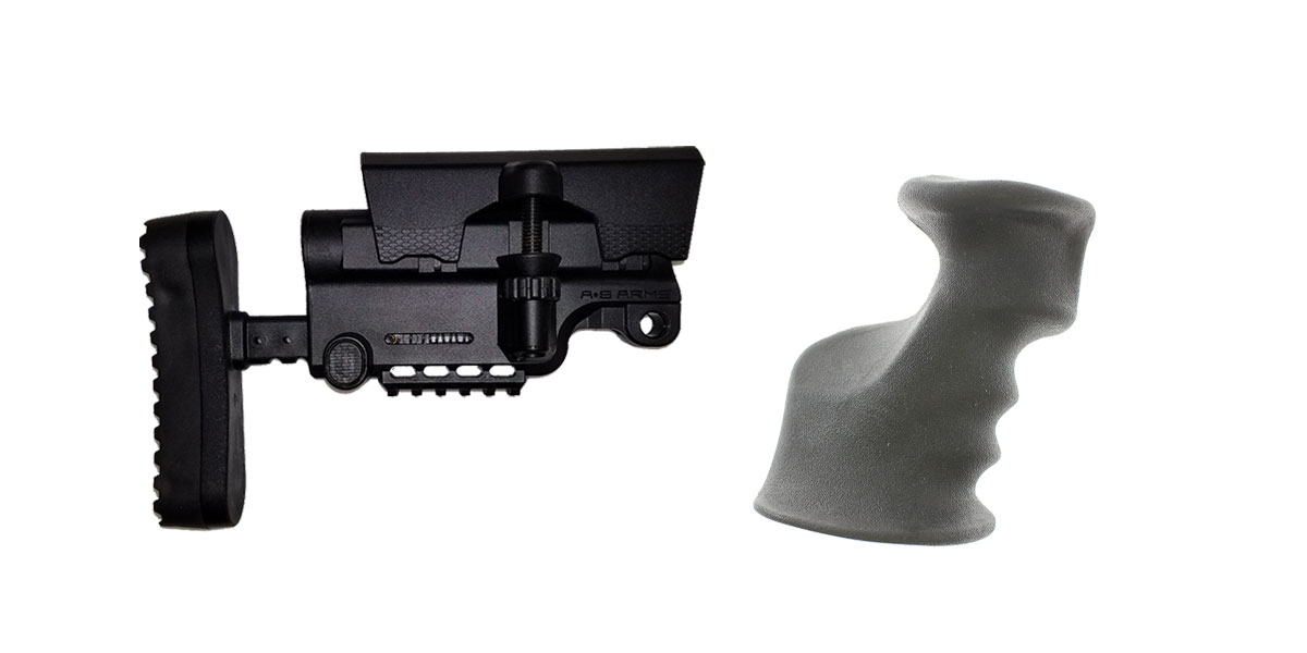 Omega Deals Stock and Pistol Grip Furniture Set: Featuring A*B Arms + JE Machine