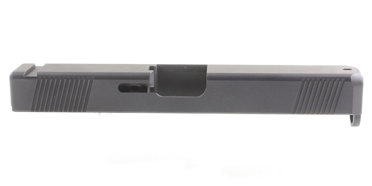 Alpha One Black Oxide Stainless Steel Glock 17 Slide - Gen 4