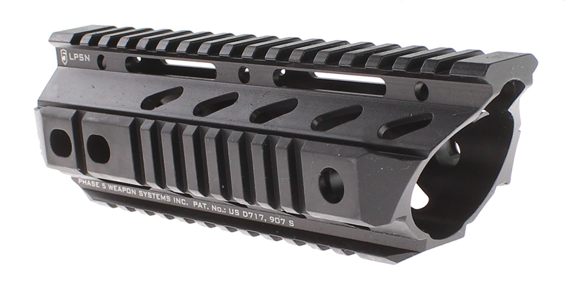 Phase 5 Weapon Systems, Lo-Pro Slope Nose Free Float Rail, 7.5