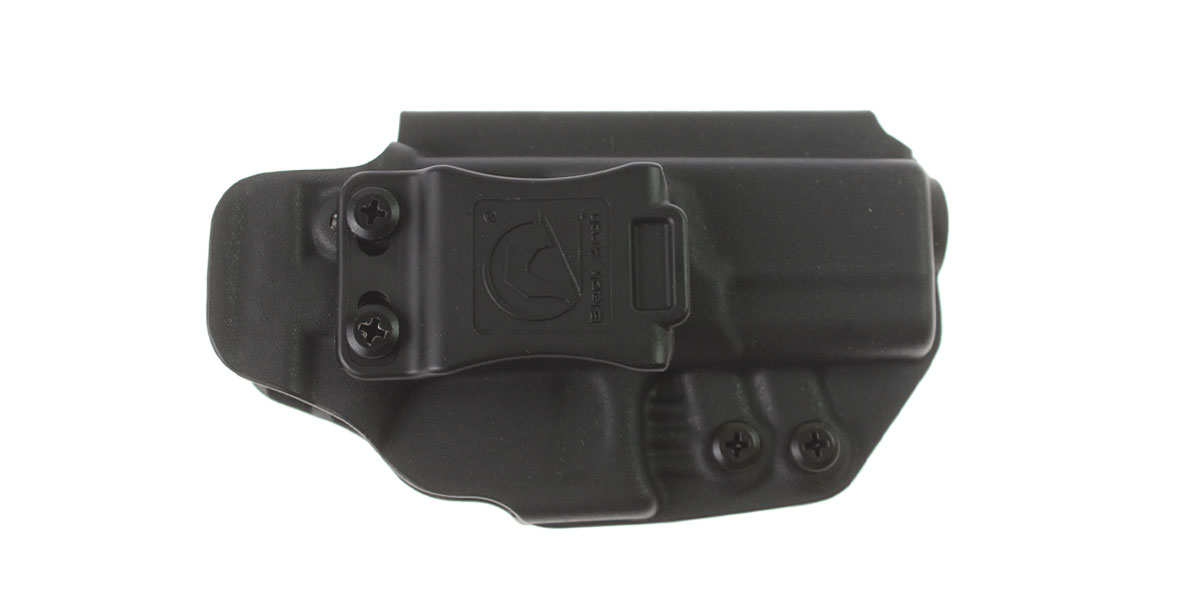 Black Arch Holsters Rev-Con Kydex Holster, Handgun Model: Glock G19/G19X/G45 Gen 3-5, Red Dot & Suppressor Sight Compatible, Black