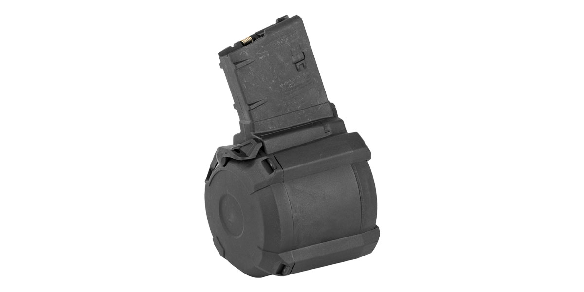Magpul PMAG .308 Win/7.62x51mm SR25 Black Drum - 50 Rounds