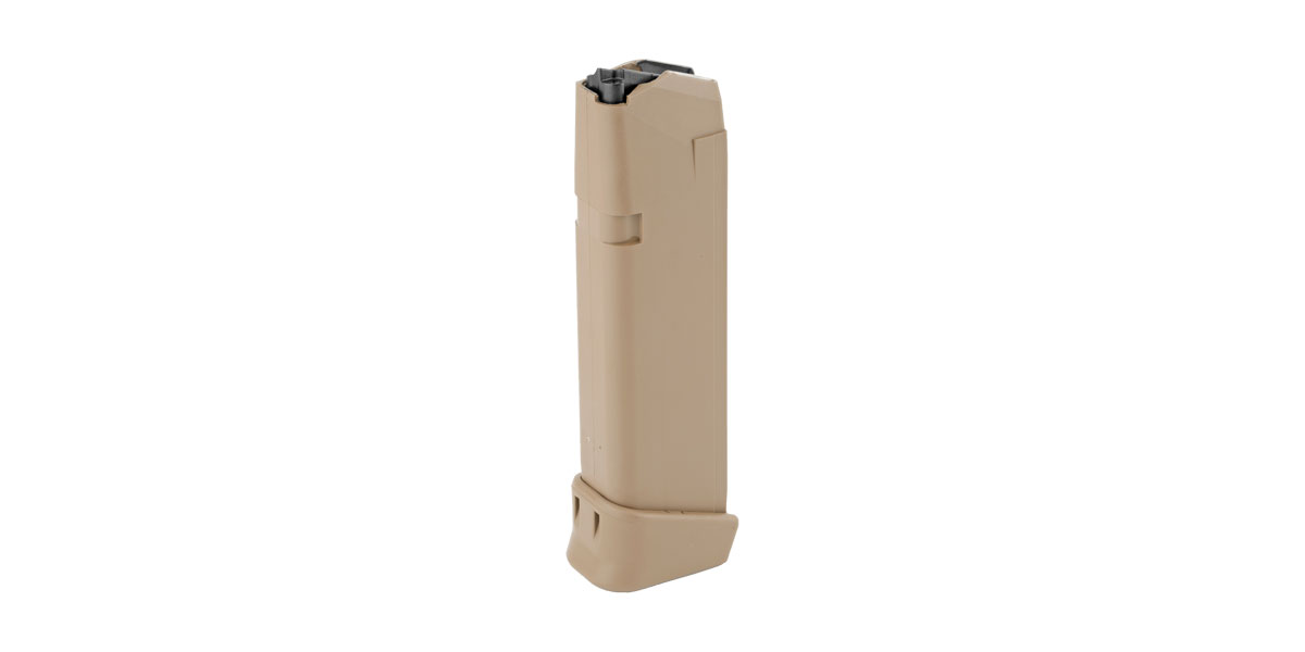 Glock Magazine for G19X/G17, Coyote Tan, 19 Round Capacity, 9mm