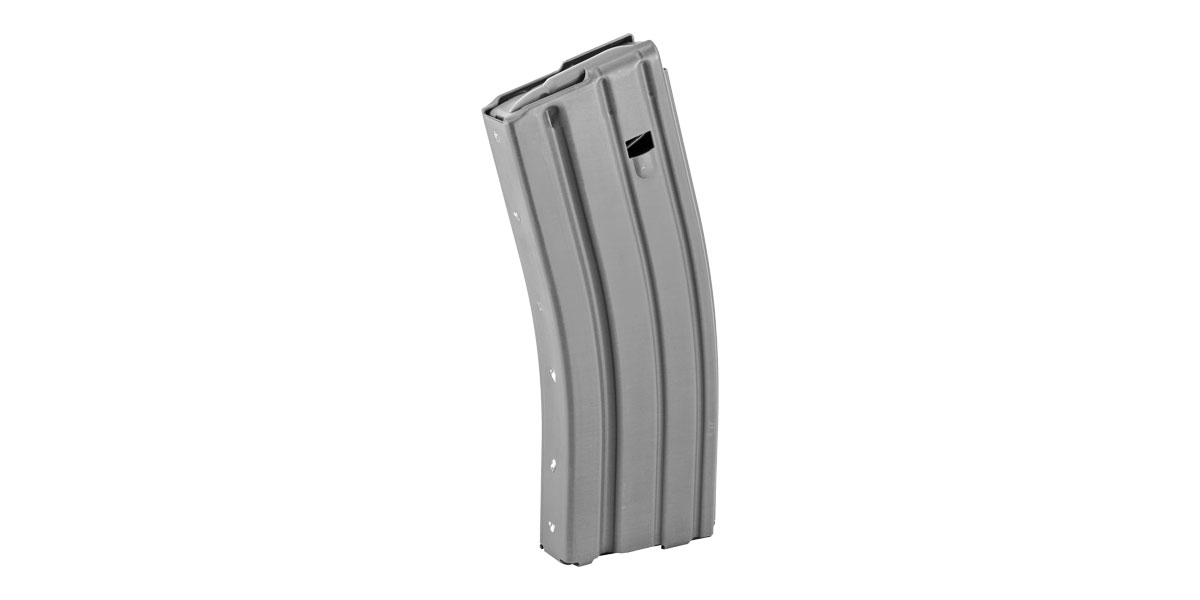 Ammunition Storage Components, Magazine, 223 Rem, Fits AR-15, 30Rd, Aluminum, Gray