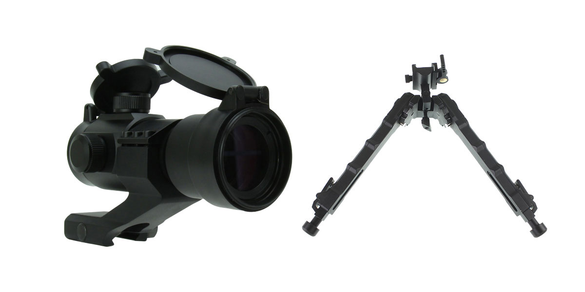 Omega Deals 1X30 DUAL ILLUMINATED RED/GREEN DOT SIGHT WITH CANTILEVER MOUNT + United Defense