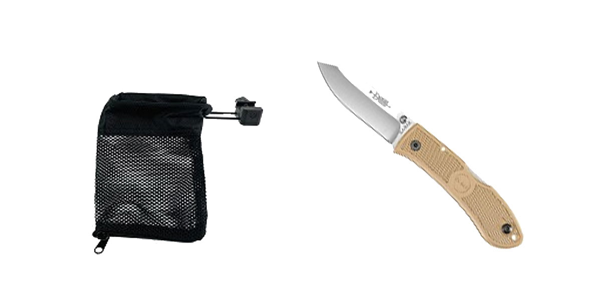 Omega Deals KABAR Folding Knife + United Defense Brass Catcher
