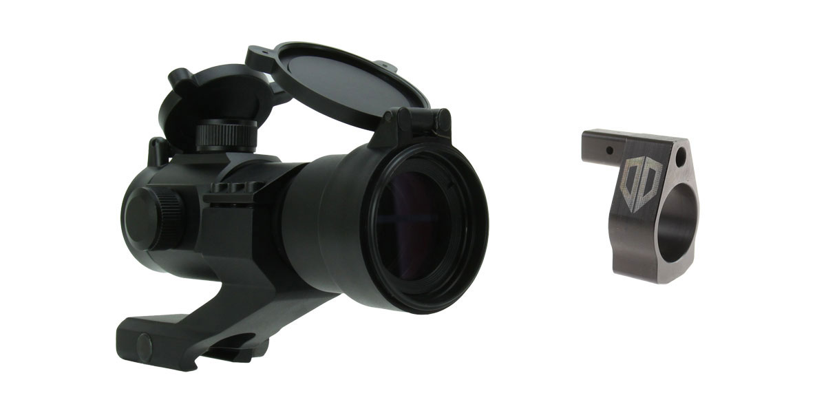 Omega Deals Alpha One Gas Block .750 Nano Adjustable + 1X30 DUAL ILLUMINATED RED/GREEN DOT SIGHT WITH CANTILEVER MOUNT