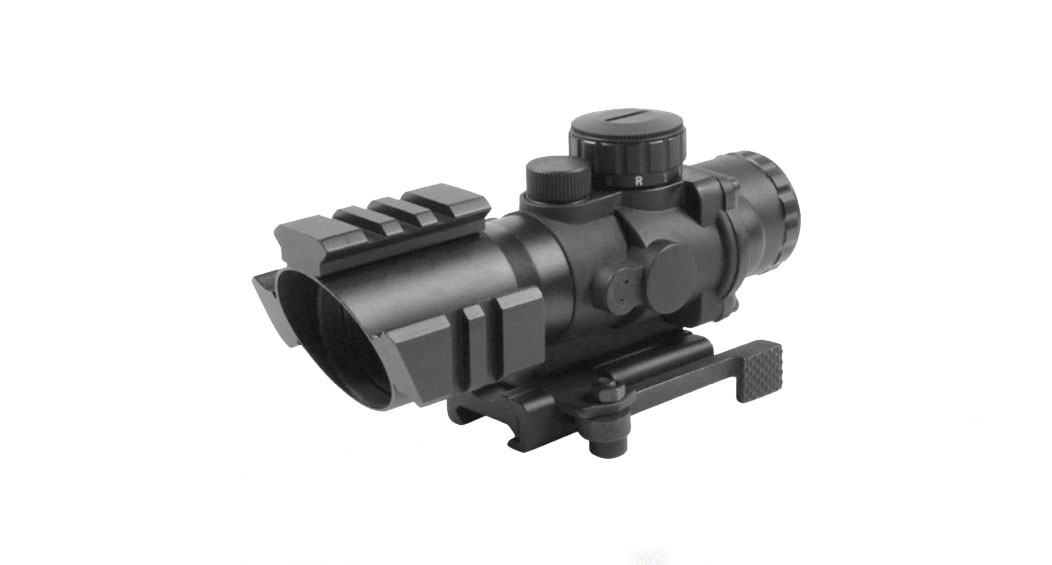 Aim Sports 4X32 Tri Illuminated Scope w/Tri-Rail/QRM/3/4 Circle