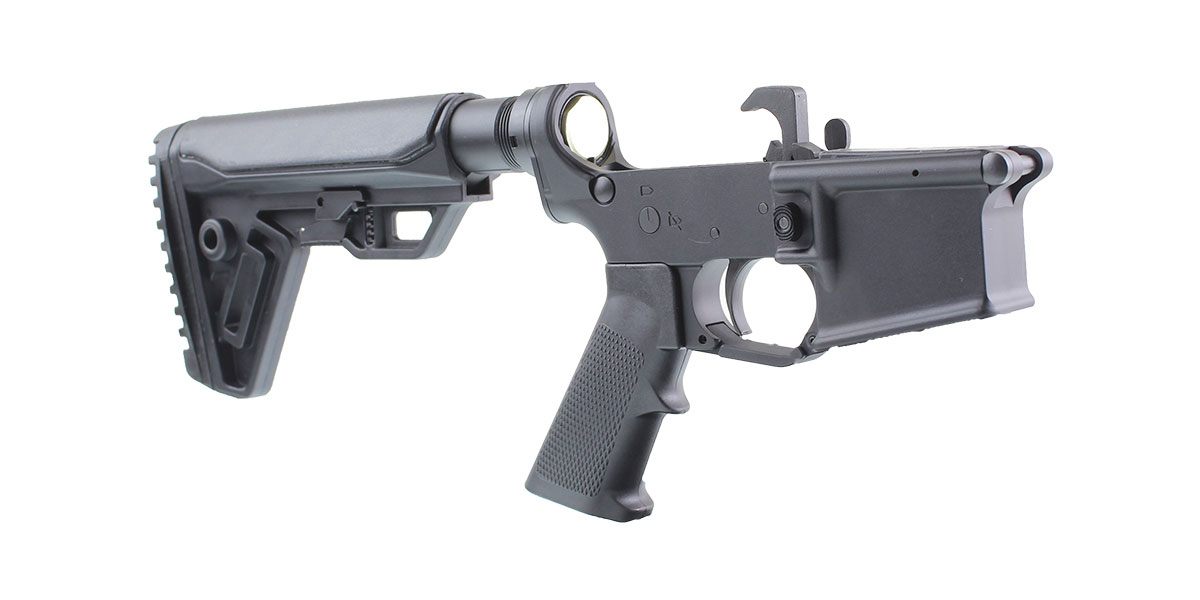 Omega Customs AR-15 Rifle Lower Receiver Build Kit Featuring MMC Armory MA15 Lower Receiver Trinity Force Cobra Stock Kit KAK Industries LPK (Assembled or Unassembled)