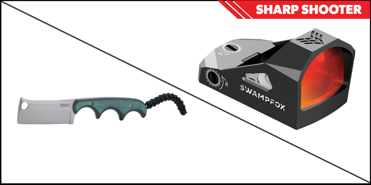 Omega Deals Sharp Shooter Combos: Swampfox Optics Justice Red Dot 1x27 + CRKT Minimalist Cleaver