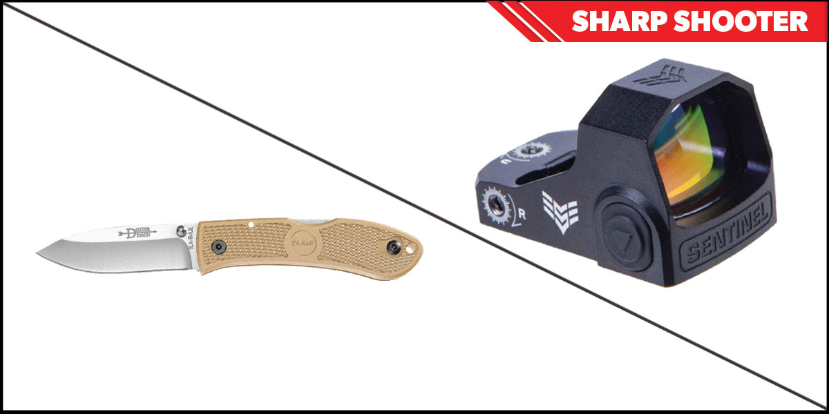 Omega Deals Sharp Shooter Combos: Swampfox Optics Sentinel Red Dot 1x16 Manual Brightness + KABAR Hunter Folding Knife 4.25