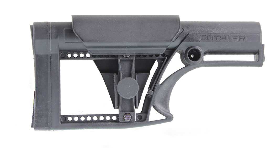 Luth-AR MBA-2 Stock in Black with Cheek Riser
