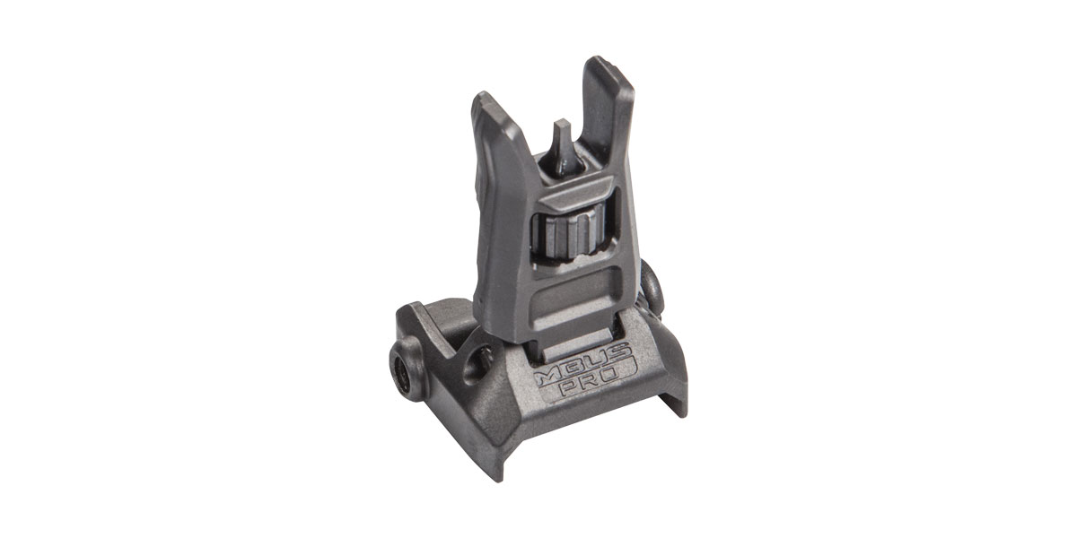 Magpul MAG275-BLK MBUS Pro Front Sight AR Platform Black Melonite QPQ Folding Steel