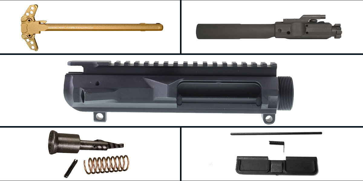 Omega Deals LR-308 Upper Starter Kit Featuring: Guntec LR-308 Low Profile Upper Receiver, Dust Cover, Forward Assist, LR-308 BCG and Charging Handle