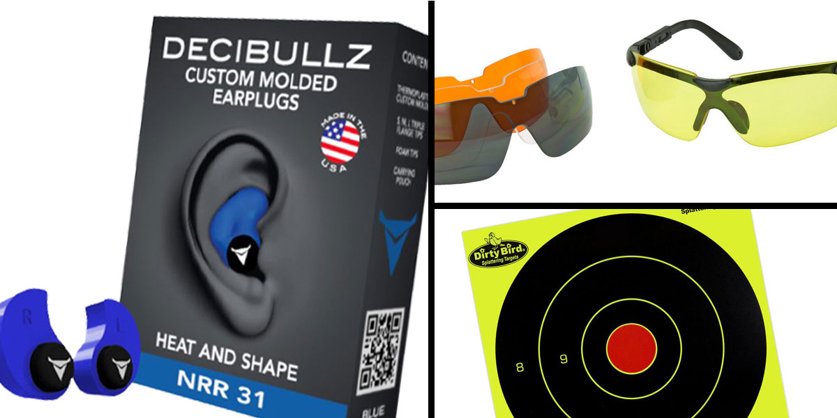 Tactical Gift Box Walker's Glasses, 3 Colo Lens Kit + Decibullz Blue + Birchwood Casey, Dirty Bird 8
