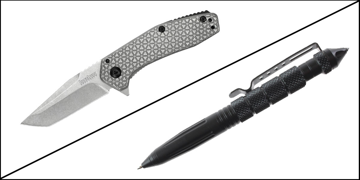 Supply Drop Tactical Pen + Kershaw Cathode Assisted Open Folding Knife