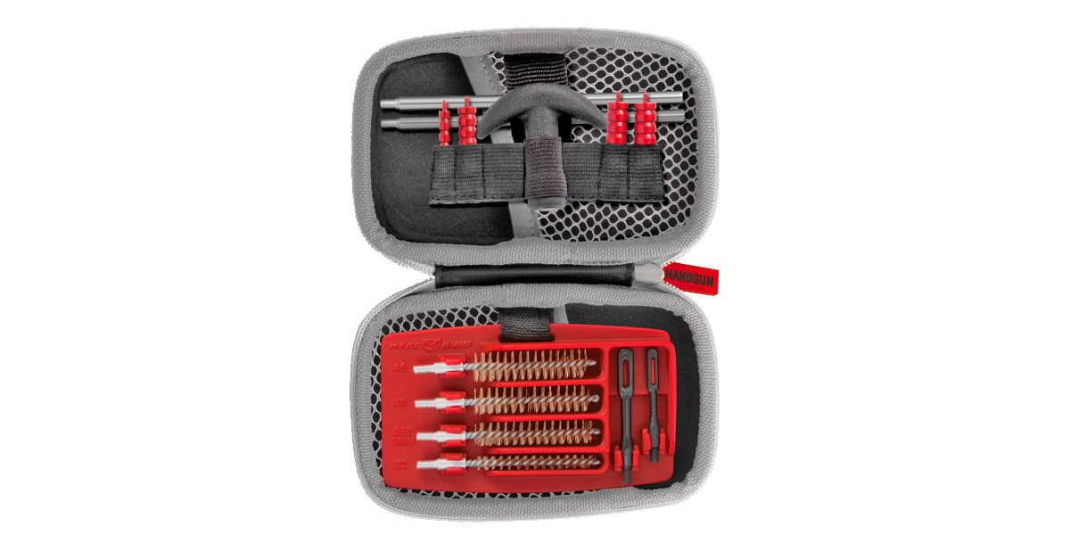 Real Avid Gun Boss Handgun Cleaning Kit, .22 - .45 Caliber, Compact and Ready